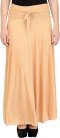 NumBrave Beige Plain Lycra Skirt