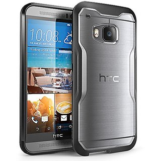 HTC One M9 Case, SUPCASE Unicorn Beetle Series Premium Hybrid Protective Clear Case for HTC One M9 , Retail Package (Frost Clear/Black)