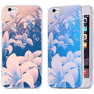 iPhone 6S Plus Case / iPhone 6 Plus Case, Arkko [Blue Ray Glitter] Flower [Slim Case] Perfect Fit Soft TPU [Scratch Resistant] Flexible Durable Light for iPhone 6S/6 Plus (5.5 inch) 13p6034