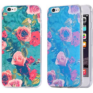 iPhone 6S Plus Case / iPhone 6 Plus Case, Arkko [Blue Ray Glitter] Flower [Slim Case] Perfect Fit Soft TPU [Scratch Resistant] Flexible Durable Light for iPhone 6S/6 Plus (5.5 inch) 13p6037