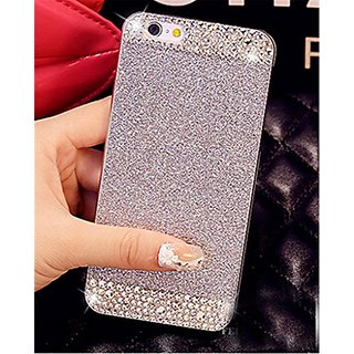 iAnko Bling Rhinestone Diamond Crystal Glitter Bling Hard Case Cover Shell Phone Case for iPhone 6 & iPhone 6s 4.7 Inch (Silver(hard case))
