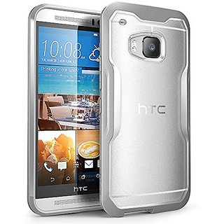 HTC One M9 Case, SUPCASE Unicorn Beetle Series Premium Hybrid Protective Clear Case for HTC One M9 , Retail Package (Frost Clear/Gray)