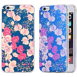 iPhone 6S Plus Case / iPhone 6 Plus Case, Arkko [Blue Ray Glitter] Flower [Slim Case] Perfect Fit Soft TPU [Scratch Resistant] Flexible Durable Light for iPhone 6S/6 Plus (5.5 inch) 13p6035