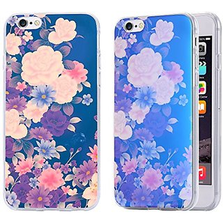 iPhone 6S Plus Case / iPhone 6 Plus Case, Arkko [Blue Ray Glitter] Flower [Slim Case] Perfect Fit Soft TPU [Scratch Resistant] Flexible Durable Light for iPhone 6S/6 Plus (5.5 inch) 13p6036