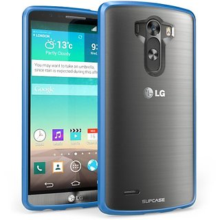 LG G3 Case, SUPCASE Unicorn Beetle Series Premium Hybrid Protective Bumper Case for LG G3, Frost Clear/Blue