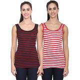 2d4f5a94e83b60 Buy NumBrave Maroon Grey Tank Tops Combo Online - Get 72% Off