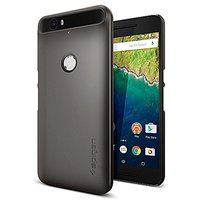 Nexus 6P Case, Spigen [Thin Fit] Exact-Fit [Gunmetal] Premium Matte Finish Hard Case for Nexus 6P (2015) - Gunmetal (SGP11854)