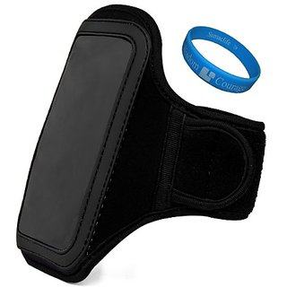 Jet Black VG Water Resistant Hardcore Neoprene Workout Armband with 2 Piece Adjustable Velcro Strap for Motorola DROID RAZR MAXX HD / Motorola RAZR HD / Motorola DROID RAZR HD / Motorola ELECTRIFY 2 / Motorola DROID RAZR MAXX / Motorola DROID 4 Smartphone