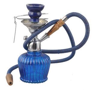 True 12 inch Blue Maya Plain Style  Hookah