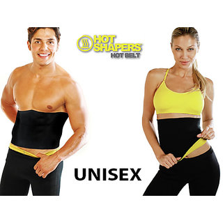 Unisex Black Pack of 2 Unisex Hot Belt Waist Shapers