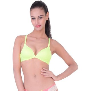 Bahucharaji Creation YellowColour Everyday Multipurpose Front Closure & Front Open Pushup Bra(Size : 32)(Pack of 1)