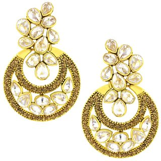 The Jewelbox Brown Brass & Copper Gold Plated Earring For Women