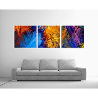 Decor Kafe Look like Canvas Print Three Pieces Wall Poster