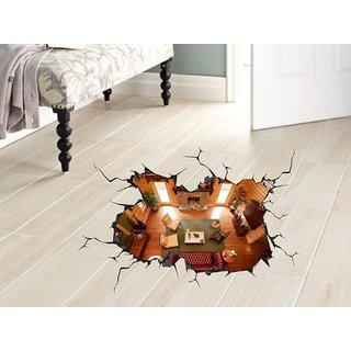 Decor Kafe 3D Art Floor Sticker