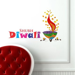 Decor Kafe Happy Diwali Wall Sticker