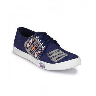 Groofer Men's Blue Lace up casual shoe