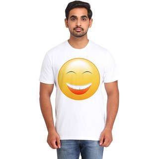 Snoby Laughing Smiley printed t-shirt (SBY16726)