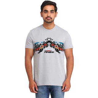 Snoby Double poster Printed t-shirt (SBY16827)
