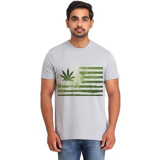 Snoby Green WEED printed t-shirt (SBY16834)