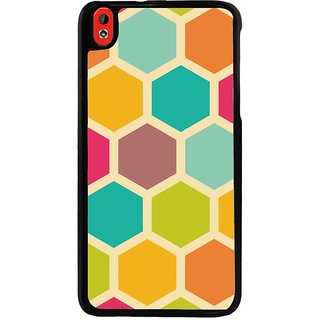 Ayaashii Colorful Hexagon Pattern Back Case Cover for HTC Desire 816::HTC Desire 816 G