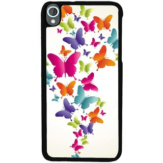 Ayaashii Colorful Butterflies Back Case Cover for HTC Desire 820::HTC Desire 820Q::HTC Desire 820S