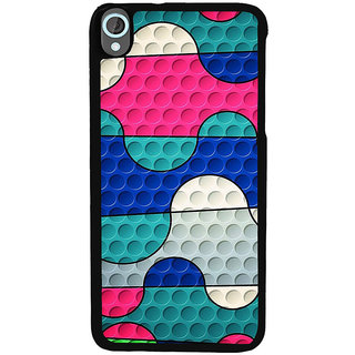 Ayaashii Colorful Circles Back Case Cover for HTC Desire 820::HTC Desire 820Q::HTC Desire 820S