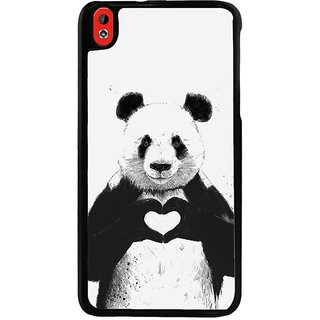 Ayaashii Teddy In Love Back Case Cover for HTC Desire 816::HTC Desire 816 G