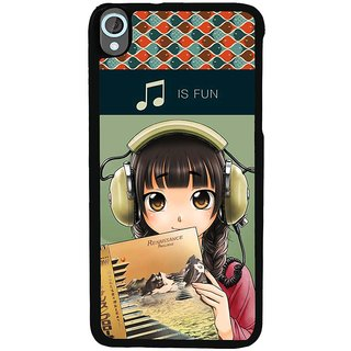 Ayaashii Music Is Fun Back Case Cover for HTC Desire 820::HTC Desire 820Q::HTC Desire 820S