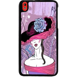 Ayaashii A Girl With An Hat Back Case Cover for HTC Desire 816::HTC Desire 816 G
