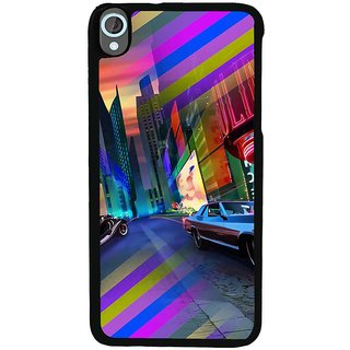 Ayaashii Colorful Street Back Case Cover for HTC Desire 820::HTC Desire 820Q::HTC Desire 820S