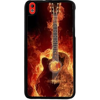 Ayaashii Burning Guitar Back Case Cover for HTC Desire 816::HTC Desire 816 G