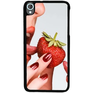 Ayaashii Tasteing A Strawberry Back Case Cover for HTC Desire 820::HTC Desire 820Q::HTC Desire 820S