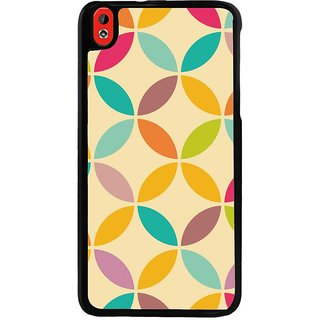 Ayaashii Colorful Circle Pattern Back Case Cover for HTC Desire 816::HTC Desire 816 G