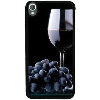 Ayaashii Grapes With Glass Of Wine Back Case Cover for HTC Desire 820::HTC Desire 820Q::HTC Desire 820S