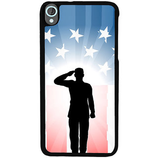 Ayaashii Soldier Is Saluting To His Emblem Back Case Cover for HTC Desire 820::HTC Desire 820Q::HTC Desire 820S