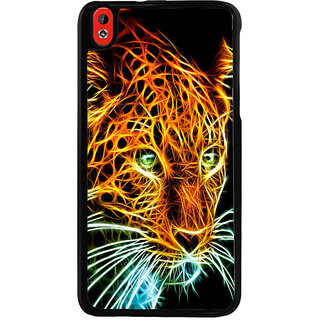 Ayaashii Tiger In Transperent Color Back Case Cover for HTC Desire 816::HTC Desire 816 G