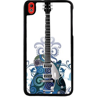Ayaashii Blue Color Designed Guitar Back Case Cover for HTC Desire 816::HTC Desire 816 G