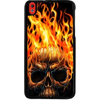 Ayaashii Burning Skul Back Case Cover for HTC Desire 816::HTC Desire 816 G