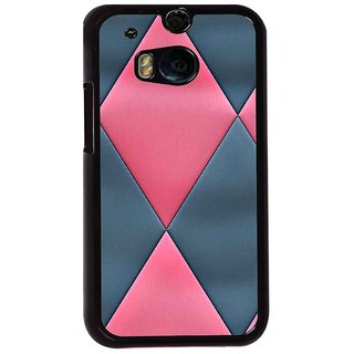 Ayaashii Diamond Pattern Back Case Cover for HTC One M8::HTC M8