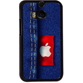 Ayaashii Apple Tag On A Jeans Back Case Cover for HTC One M8::HTC M8