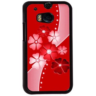 Ayaashii Flower Pattern Back Case Cover for HTC One M8::HTC M8
