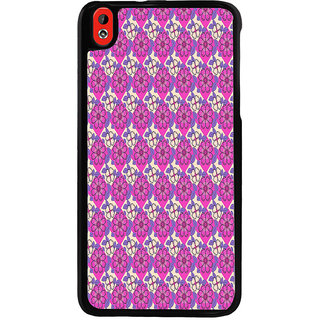 Ayaashii Purple Flowers Pattern Back Case Cover for HTC Desire 816::HTC Desire 816 G
