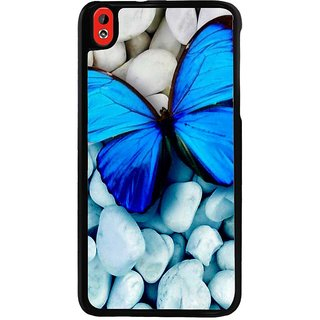 Ayaashii Blue Color Butterfly Back Case Cover for HTC Desire 816::HTC Desire 816 G