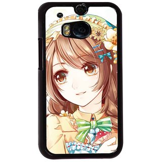 Ayaashii Cute Girl Back Case Cover for HTC One M8::HTC M8