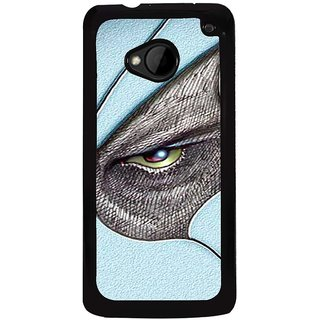 Ayaashii Black Shaded Eyes Back Case Cover for HTC One M7::HTC M7