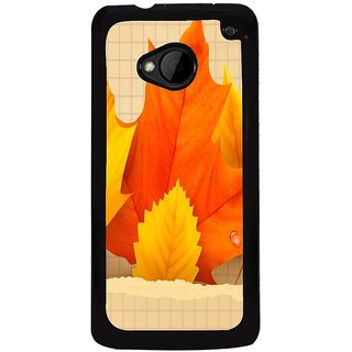 Ayaashii Faded Leaf Back Case Cover for HTC One M7::HTC M7