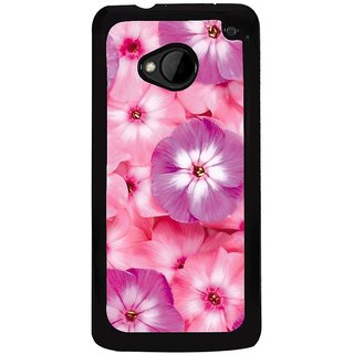 Ayaashii Pink Flowers Back Case Cover for HTC One M7::HTC M7