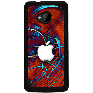 Ayaashii An Apple Logo With Stripes Back Case Cover for HTC One M7::HTC M7