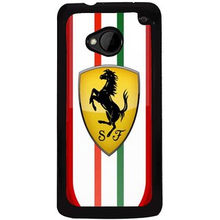 Ayaashii An Ferari Symbol Back Case Cover for HTC One M7::HTC M7
