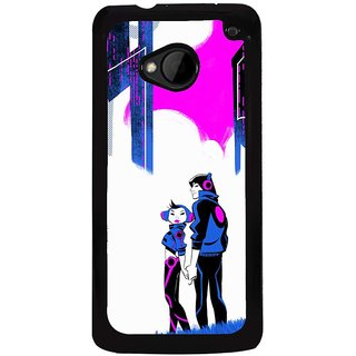 Ayaashii The Two Music Lovers Back Case Cover for HTC One M7::HTC M7
